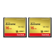 Sandisk® Extreme 16GB CompactFlash Memory Card, 2/Pack