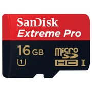 Sandisk® Extreme Pro microSDHC 16GB Class 10/UHS-I Memory Card