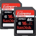 Sandisk® Extreme 16GB SDHC Class 10/UHS-I Memory Card, 2/Pack
