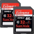 Sandisk® Extreme 32GB SDHC Class 10/UHS-I Memory Card, 2/Pack