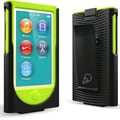 Cygnett Action Nano Silicon Case For iPod Nano 7 With Snap-on Wristband, Black/Green