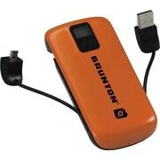 Brunton® Metal 4400 mAh Rechargeable Battery Pack, Orange