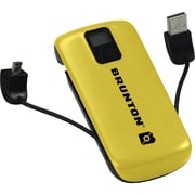 Brunton® Metal 4400 mAh Rechargeable Battery Pack, Yellow