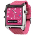 Martian MG100FSF G2G Smart Watch With Light Touch Vibrating Motor, Fuchsia/Silver