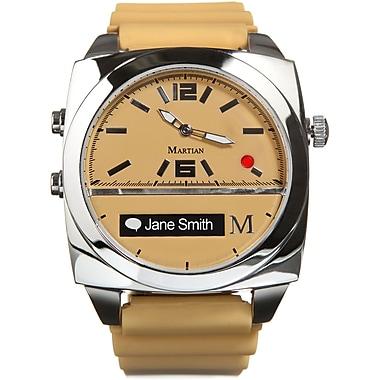 Martian MV100TST Victory Smart Watch, Tan/Silver
