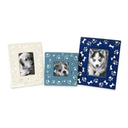IMAX Dog Bone Ceramic Picture Frames (Set of 3)