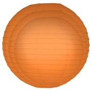 Luminarias 6 Piece Round Paper Lantern Set; Orange