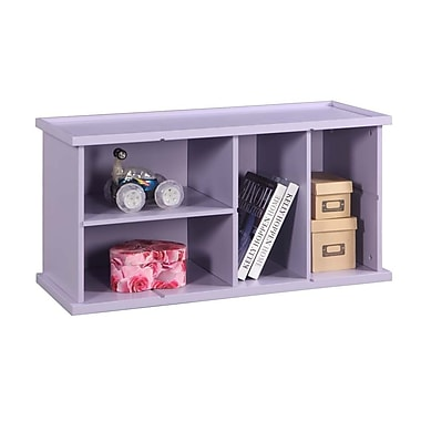 InRoom Designs Stackable 18'' Bookcase; Purple
