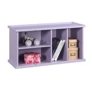 InRoom Designs Stackable 18'' Bookcase; Purple