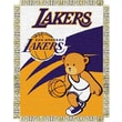 Northwest Co. NBA Baby Triple Woven Jacquard Throw; Los Angeles Lakers