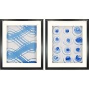 Paragon Macreme Blue I by Lam 2 Piece Framed Painting Print Shadow Box Set (Set of 2)