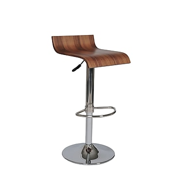 Pangea Home Jax Adjustable Bar Stool; Walnut