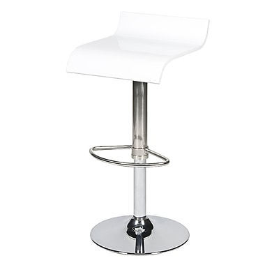 Pangea Home Jax Adjustable Bar Stool; White
