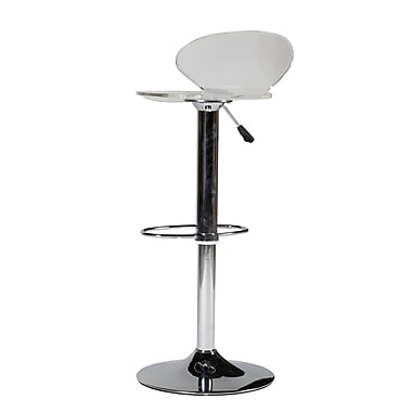 Pangea Home Jamie 22.5'' Adjustable Bar Stool (Set of 2); Clear