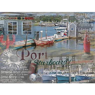 Graffitee Studios Cape Cod Port and Starboard - Dennis Graphic Art on Wrapped Canvas