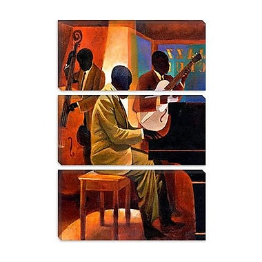 iCanvas 'Piano Man' by Keith Mallett Painting Print on Canvas; 18'' H x 12'' W x 0.75'' D