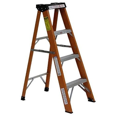 Michigan Ladder Industrial 4 ft Fiberglass Step Ladder with 250 lb. Load Capacity