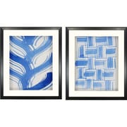 Paragon Macreme Blue II by Lam 2 Piece Framed Painting Print Shadow Box Set (Set of 2)