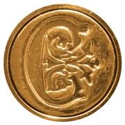 Manuscript Initial Ceramic Mini Wax Seal; C
