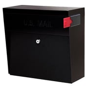 Mail Boss Wall Mounted Mail Vault with Lock; Black