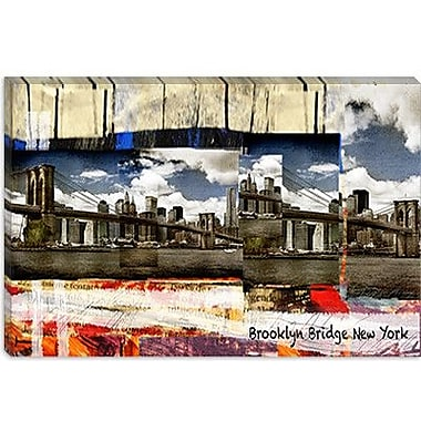 iCanvas Luz Graphics Brooklyn B New York Graphic Art on Canvas; 12'' H x 18'' W x 0.75'' D