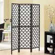 Monarch Specialties Inc. 71'' x 54'' Frame Lantern Design Folding 3 Panel Room Divider; Black