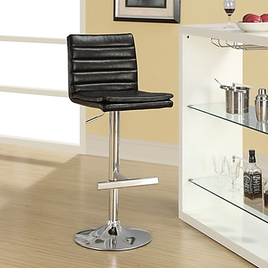Monarch Specialties Inc. Adjustable Height Swivel Bar Stool with Cushion (Set of 2); Dark Brown