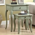 Monarch Specialties Inc. 2 Piece Nesting Tables; Antique Green