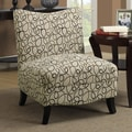 Monarch Specialties Inc. Swirl Fabric Slipper Chair