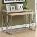 Monarch Specialties Inc. 2 Piece Nesting Console Table; Natural