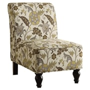 Monarch Specialties Inc. Floral Traditional Slipper Chair