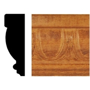 Manor House 13/16 in. x 2-1/2 in. x 8 ft. Hardwood Stained Cherry Egg and Dart Chair Rail Moulding