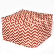OC Fun Saks Bean Bag Ottoman; Orange