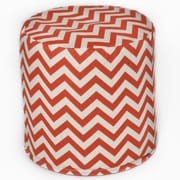 OC Fun Saks Bean Bag Cylinder Ottoman; Orange