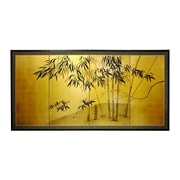 Oriental Furniture 24'' Leaf Bamboo 4 Panel Room Divider