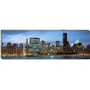 iCanvas Panoramic Manhattan, New York Photographic Print on Canvas; 12'' H x 36'' W x 0.75'' D