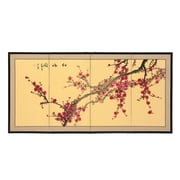 Oriental Furniture 24'' Plum Blossom 4 Panel Room Divider