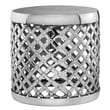 Modern Day Accents Aluminum Round Drum Stool