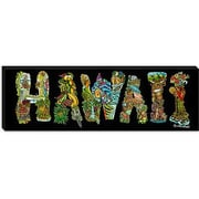 iCanvas 'Hawaii Alphabet' by David Russo Painting Print on Canvas; 16'' H x 48'' W x 1.5'' D