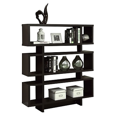 Monarch Specialties Inc. Thee 54.5'' Bookcase; Cappuccino