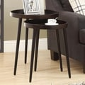 Monarch Specialties Inc. 2 Piece Nesting Tables; Cappuccino