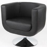 Whiteline Imports Bliss Barrel Chair; Black