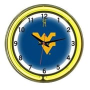 Wave 7 NCAA 18'' Team Neon Wall Clock; West Virginia