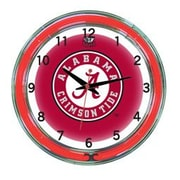 Wave 7 NCAA 18'' Team Neon Wall Clock; Alabama