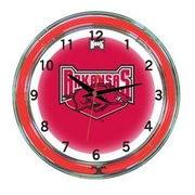 Wave 7 NCAA 18'' Team Neon Wall Clock; Arkansas