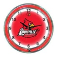 Wave 7 NCAA 18'' Team Neon Wall Clock; Louisville