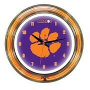 Wave 7 NCAA 14'' Team Neon Wall Clock; Clemson