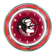 Wave 7 NCAA 14'' Team Neon Wall Clock; Florida State
