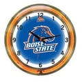 Wave 7 NCAA 18'' Team Neon Wall Clock; Boise State