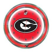 Wave 7 NCAA 14'' Team Neon Wall Clock; Georgia